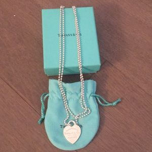 Tiffany & Co. layering heart necklace